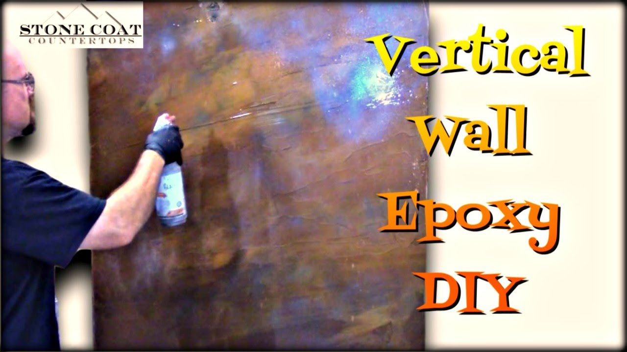 Vertical Wall Epoxy Diy Youtube