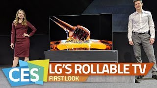 LG Signature 65-Inch UHD OLED TV R First Look | TV That Rolls Into the Soundbar