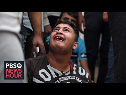 PBS NewsHour: News Wrap: Israeli airstrikes targeting terrorists kill 26 people
