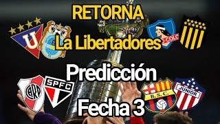 Mi Predicción Fecha 3 |Copa Libertadores 2020
