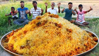 Chicken And Prawns Royal Biryani | Royal Chicken Shrimp Mixed Biryani for 200 People