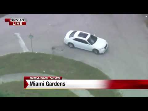 Chase ends after car crashes into police SUV in Miami Garden