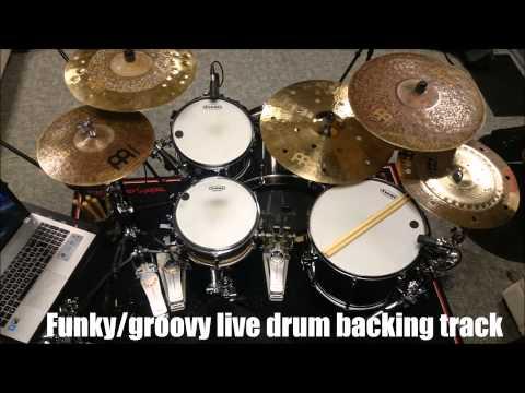 Funky/Groovy Drum Backing Track - 105 bpm - Siros Vaziri