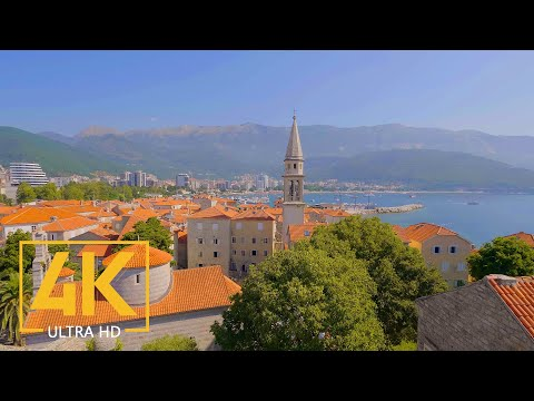 4K Virtual Walking Tour - The Scenic Cities of Montenegro - Part 1
