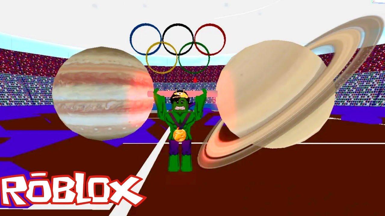 Strongman Simulator Roblox   GOLD MEDALIST! PATI PLANETO BINUBUHAT!