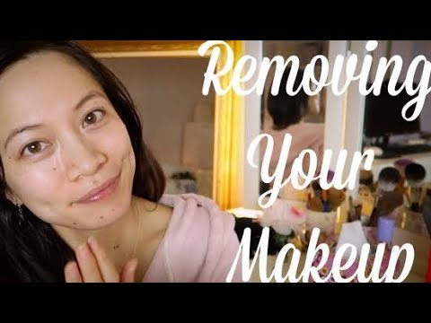 ASMR Taking Off Your Makeup Naturally Roleplay + Demonstration