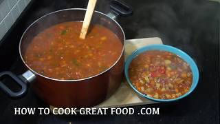 Minestrone Soup - Veg Soup - Easy Winter Warmer Soup - How to make Vegetable Minestrone -