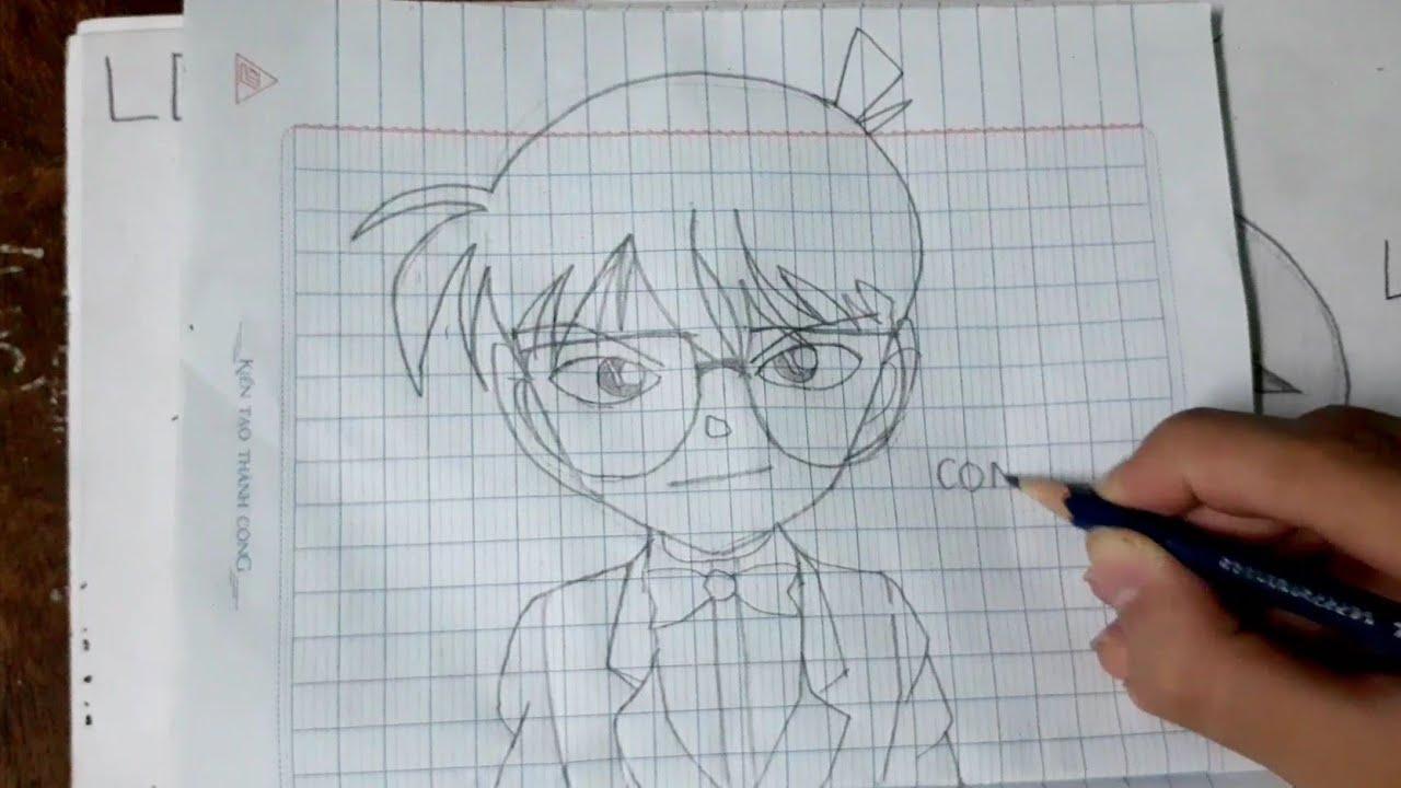 cách vẽ Conan đơn giản – vẽ từng bước | How to draw Conan