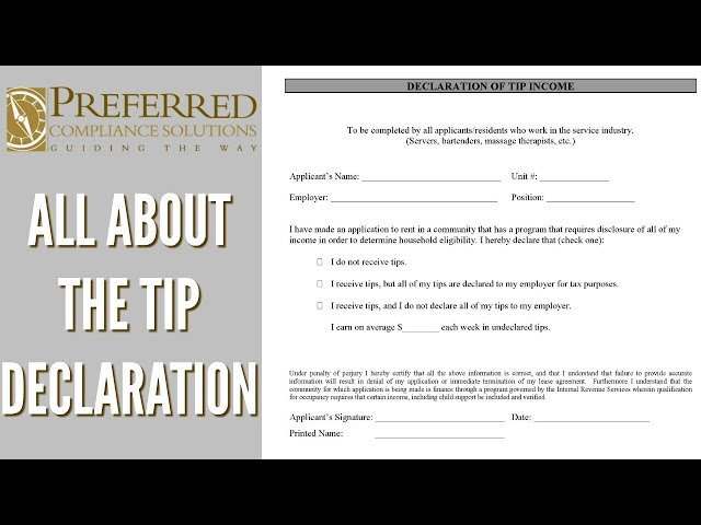 All About The Tip Declaration