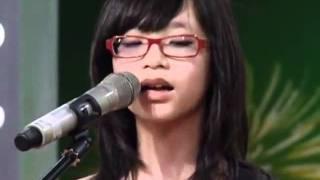 [Vietnam's Got talent] Trần My Anh (11 tuổi) - Em về tóc xanh (acoustic)