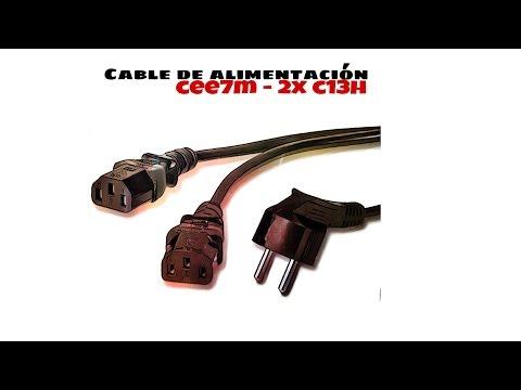 Video de Cable alimentacion divisor CPU C13 hembra 1.8 M Negro