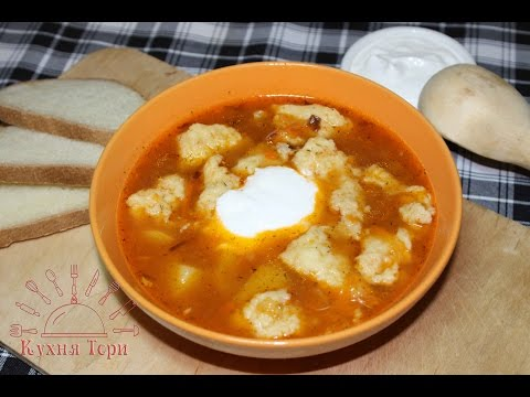 галушки с мясом суп рецепт фото
