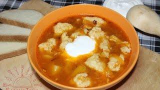 Суп с галушками экономный. Серия