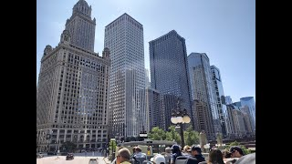 [4K] Chicago Tour from Tourist Hop-On Hop-Off Bus Illinois USA