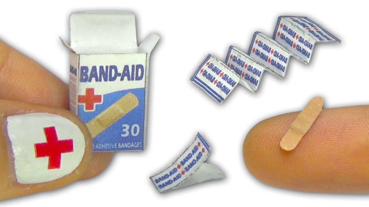 Miniature doll band-aid or adhesive bandages strips and ...