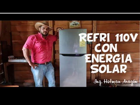 REFRIGERADOR 110V TRABAJANDO CON ENERGIA SOLAR...