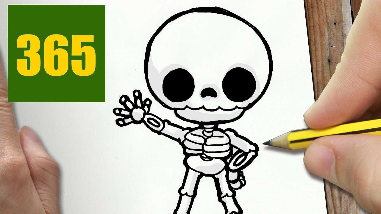 Squelette Dessin Halloween.Comment Dessiner Squelette Kawaii étape Par étape Dessins Kawaii Facile