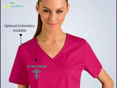 Baby Phat Scrubs Cherokee Fashon V Neck Nurse Scrub Top
