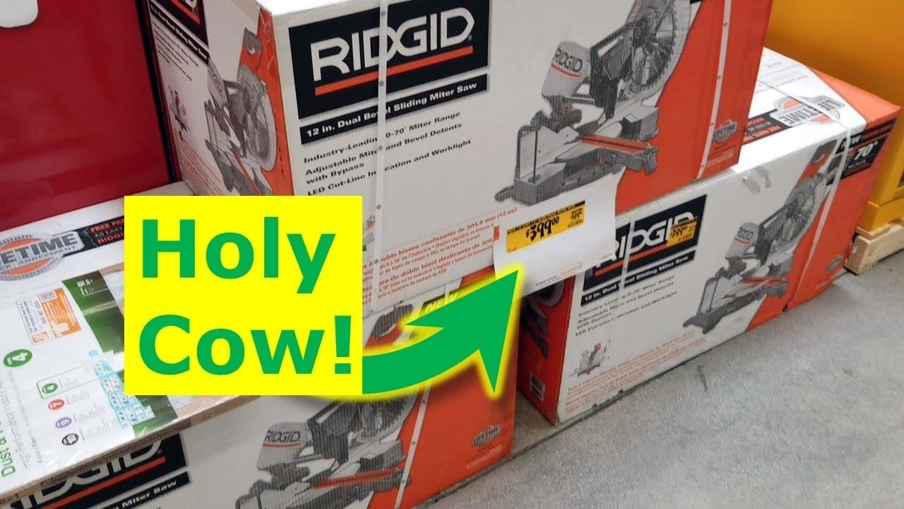 Home Depot Is Insane Rigid Chop Saw Massive Tool Discount Youtube