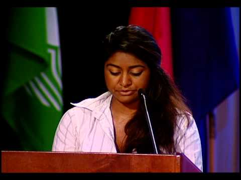 Eesha Choudhari, 2013 YWPA Recipient, speaks at Zonta International's 2014 Convention