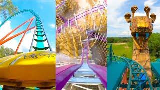 Every Roller Coaster at Busch Gardens Tampa!  4K Onride POV