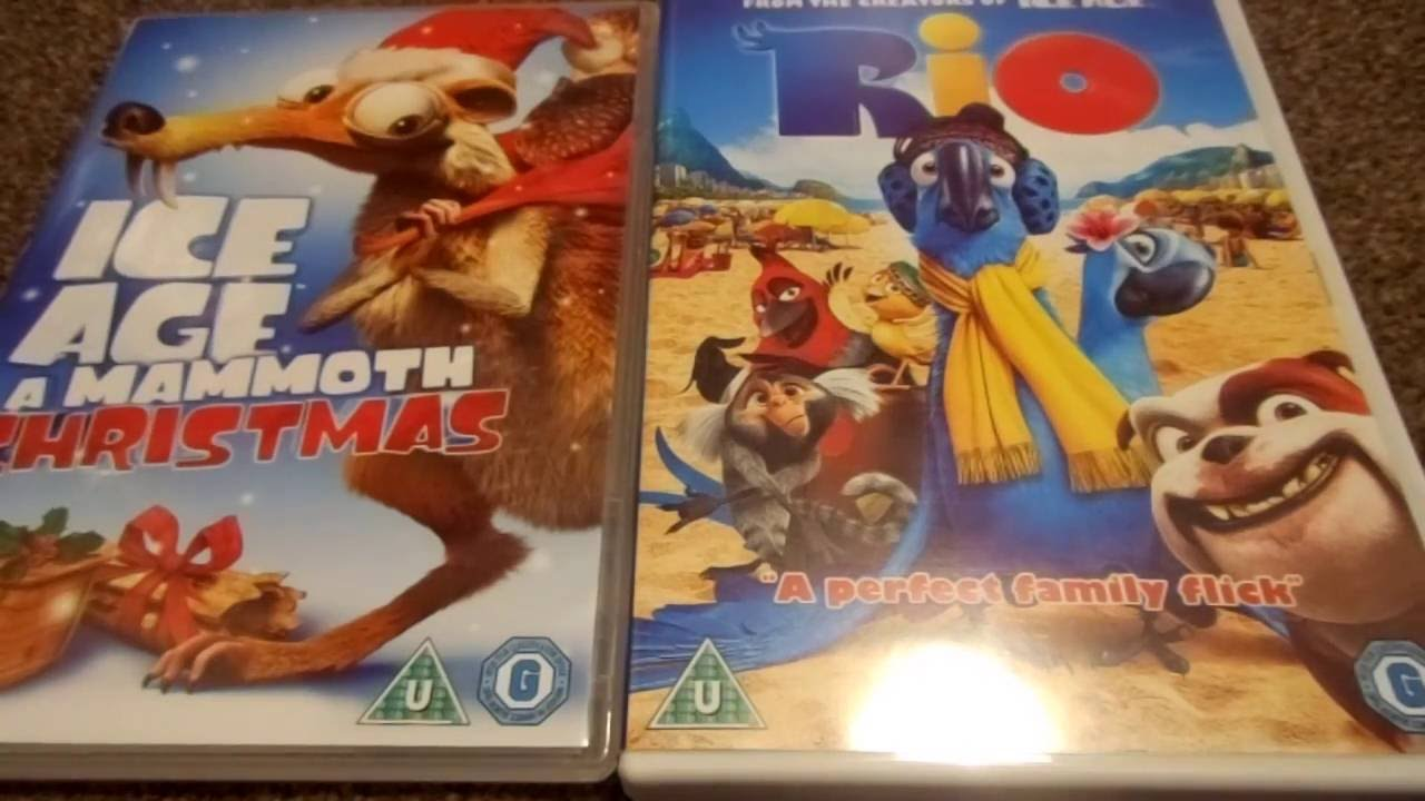 ice age a mammoth christmas and rio uk dvd unboxing youtube. Black Bedroom Furniture Sets. Home Design Ideas