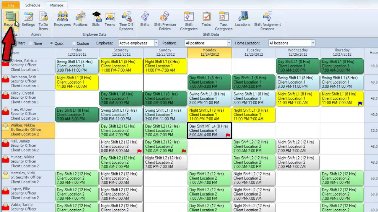 snap schedule employee scheduling software video