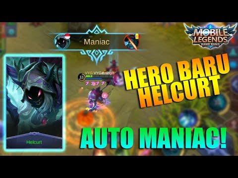NEW HERO HELCURT - Gila Hero Assassin Baru OP Banget! Auto maniac (Mobile Legends Indonesia)