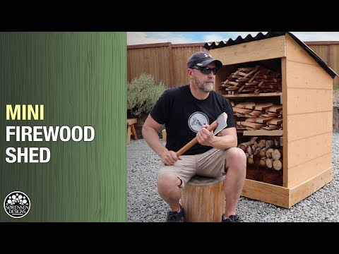 Mini Firewood Shed // Easy Construction