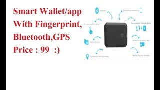 Smart Fingerprint Wallet With Gps in India Price Hindi Review