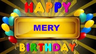 Mery - Birthday cards - Happy Birthday