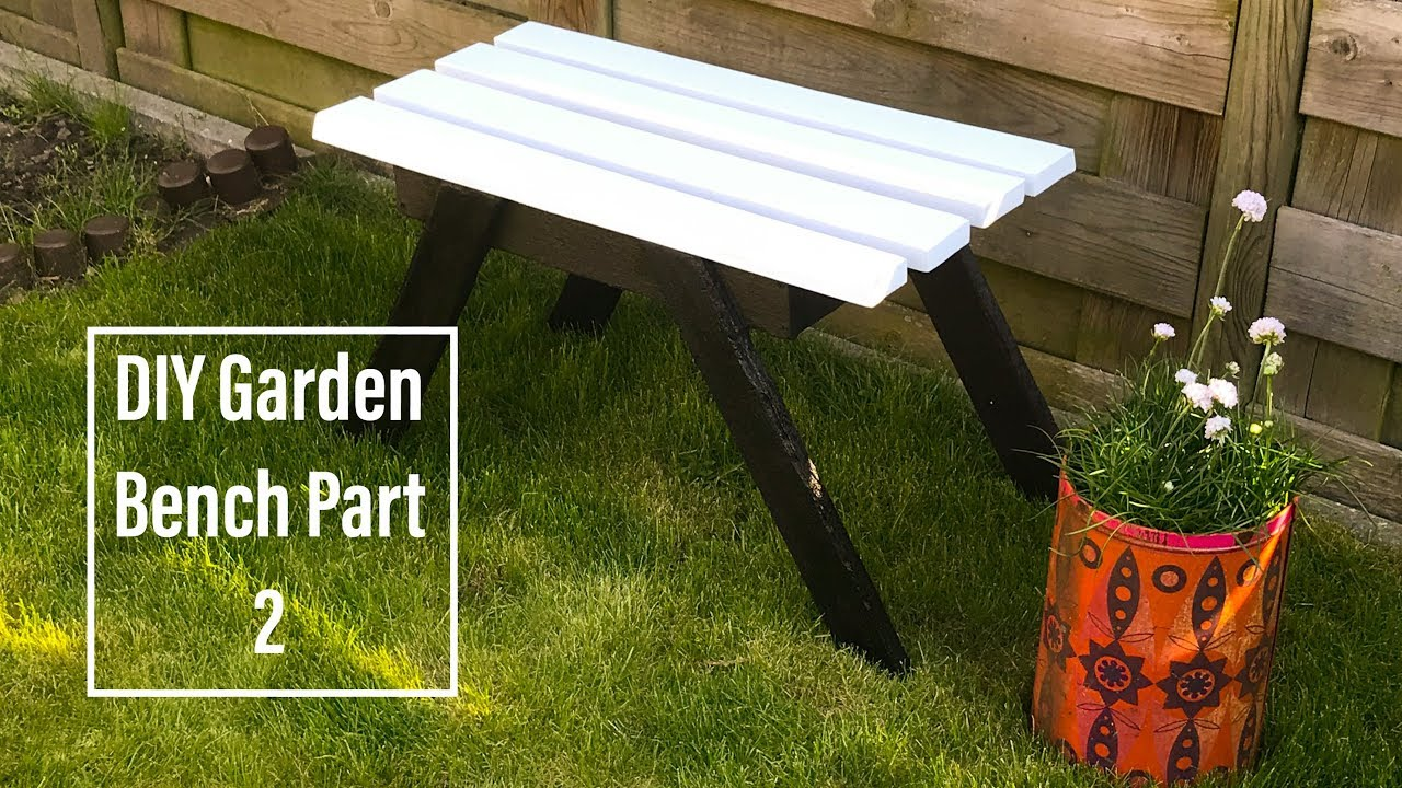 Awesome DIY Garden Bench Made From Pallets And Fire! (And White Paint :p ) PART 2