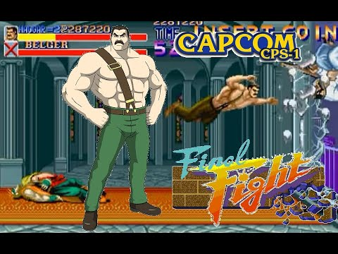 Final Fight  Arcade  Hardest Mike Haggar no death playthrough