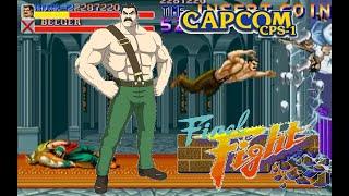 Final Fight  Arcade  Hardest Mike Haggar no death playthrough