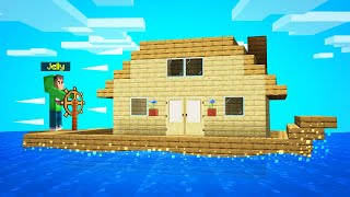 I Built A MINECRAFT HOUSE BOAT And It ACTUALLY WORKS!