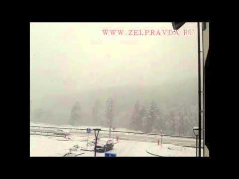 Поселок Романтик курорта «Архыз» завалило снегом