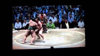 白鵬vs高安 1分40秒の大熱戦! 平成27年大相撲七月場所 Sumo Hakuho vs ...