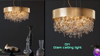 ❣️DIY GOLD CHANDELIER ON A BUDGET ❣️| ART AND CRAFT | DIY CRAFTS | FASHION PIXIES