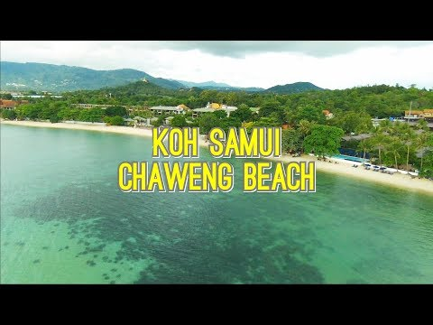 Koh Samui Thailand, beautiful view over Chaweng beach by DRONE !!