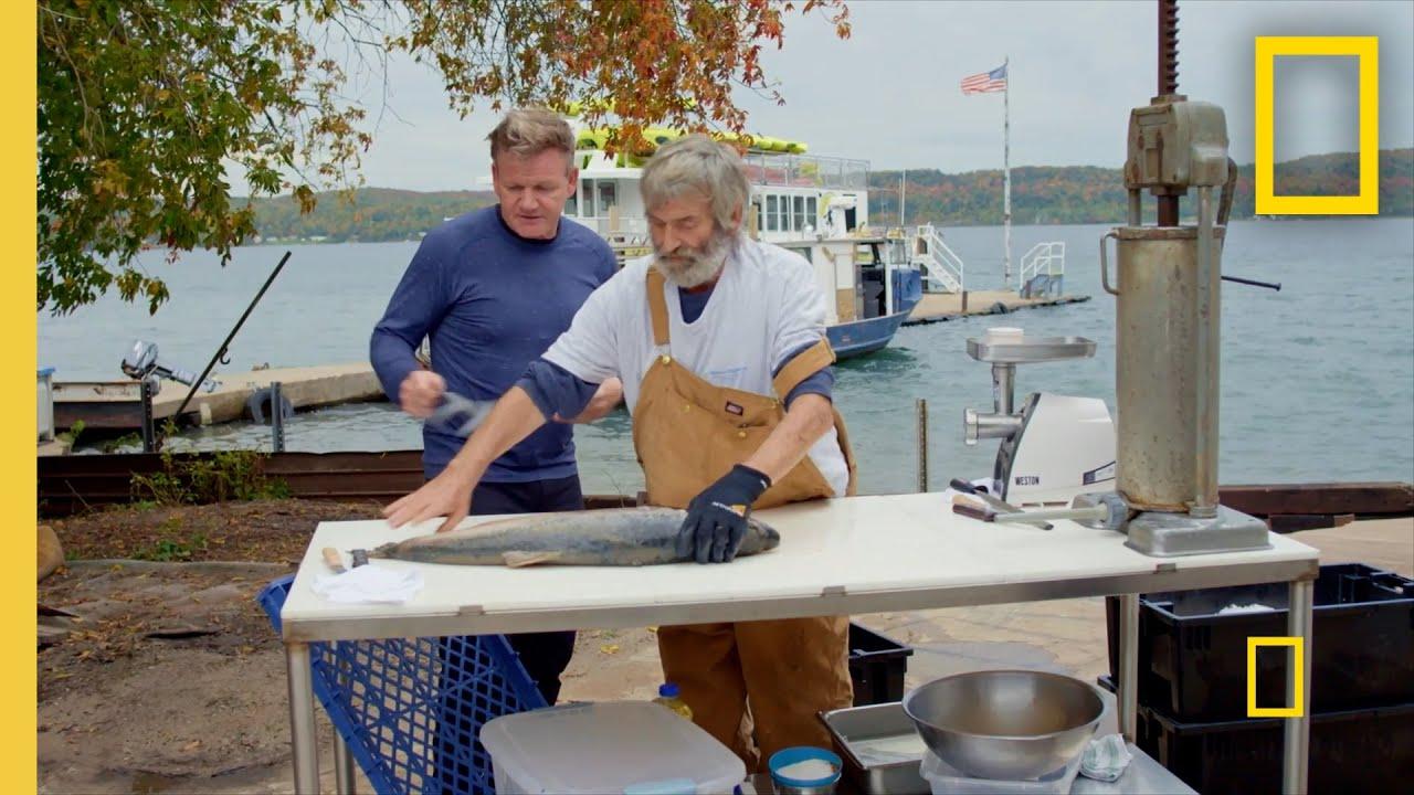 Download Gordon Makes Smoked Fish Sausage | Gordon Ramsay: Uncharted