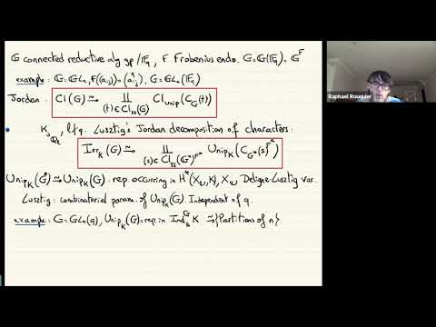 Finite groups as algebraic groups in non-defining characteristic - Raphaël Rouquier
