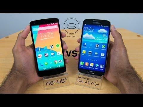Nexus 5 vs Samsung Galaxy S4 - Hands-on