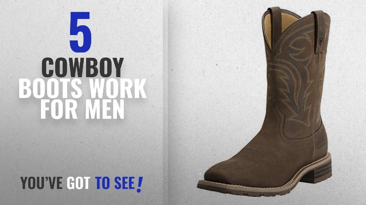 f675cb0efb6 Top 10 Cowboy Boots Work [ Winter 2018 ]: Ariat Men's Hybrid Rancher H2O  Western Cowboy Boot, Oily