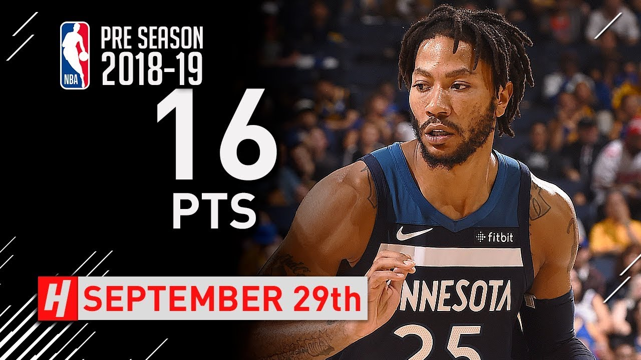 d87b7c304d71 Derrick Rose Full Highlights vs Warriors 2018.09.29 - 16 Points ...