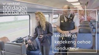 Hoofdconducteur in de trein bij de NS - Dag 95