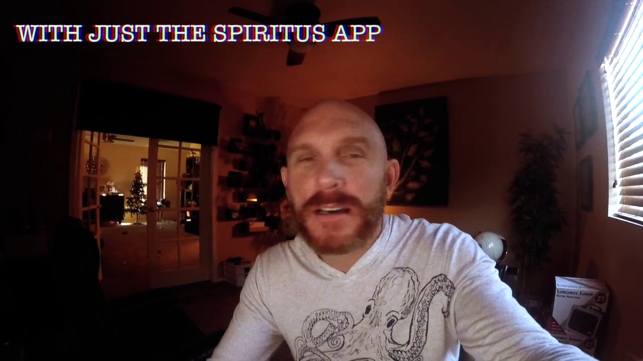 A Spirit Session using only the Spiritus app and my Phone