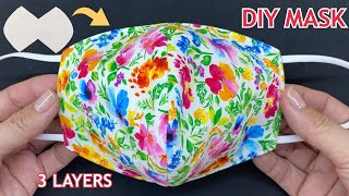 New Style Diy Breathable Face Mask 3 Layers Easy Pattern Sewing Tutorial At Home Fabric Face Mask