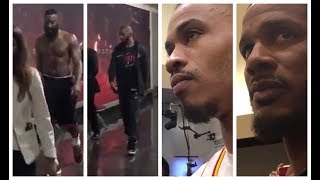 james harden chris paul disappointed after game 7 defeat gerald green trevor ariza on the loss
