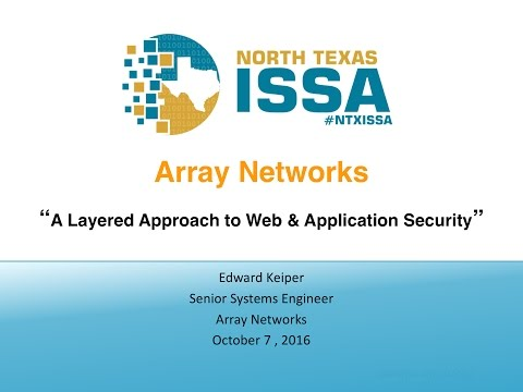 A Layered Approach to Web and Application Security