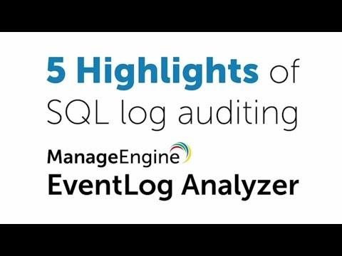 SQL Server Logs Auditing and Reporting Tool :: EventLog Analyzer
